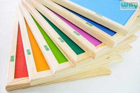 Tablica korkowa barwiona w ramie drewnianej 100x 170 cm