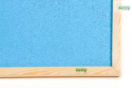 Tablica korkowa barwiona w ramie drewnianej 100x180 cm