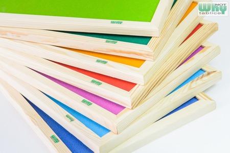Tablica korkowa barwiona w ramie drewnianej 120x150 cm