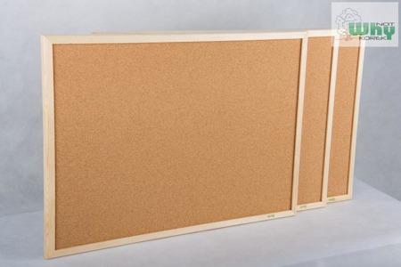 Tablica korkowa w ramie drewnianej 100x180 cm