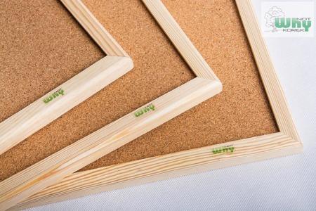 Tablica korkowa w ramie drewnianej 100x220 cm