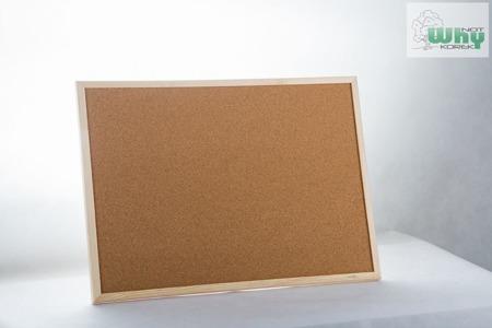 Tablica korkowa w ramie drewnianej 60x100 cm