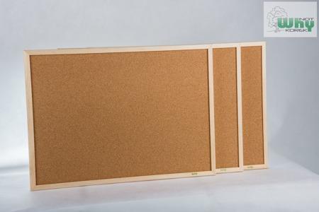 Tablica korkowa w ramie drewnianej 80x120 cm