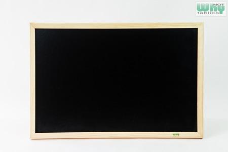 Tablica kredowa czarna w ramie drewnianej 40x60
