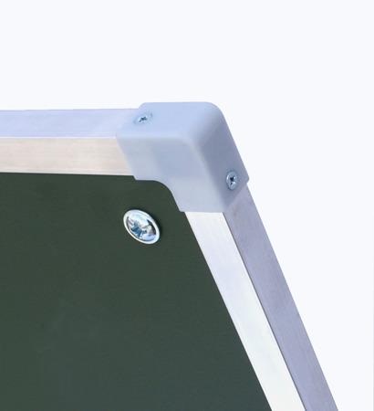 Tablica magnetyczno-suchościeralna w ramie aluminiowej 100x300 cm typu tryptyk zielona