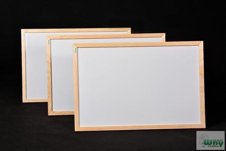 Tablica magnetyczno-suchościeralna w ramie drewnianej 40x60 cm